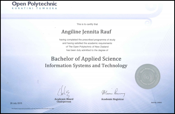 Information Systems and Emerging Technologies - Angiline Rauf