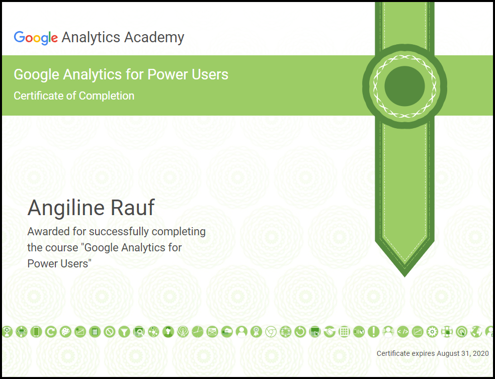 Google Analytics for Power Users - Angiline Rauf - Web designer and SEO Specailist Auckland